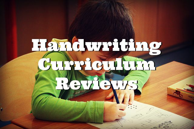 Handwriting Curriculum Reviews